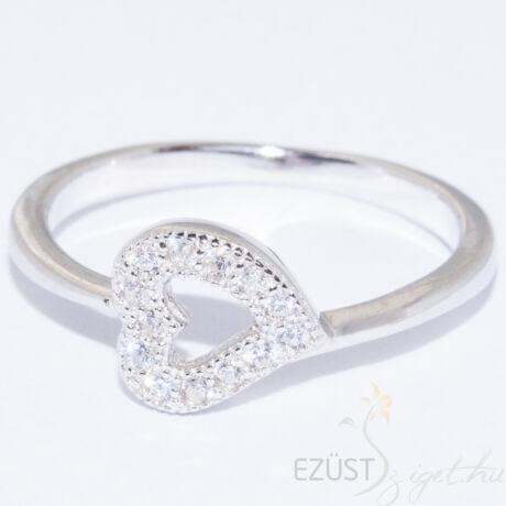 szív ezüst gyűrű