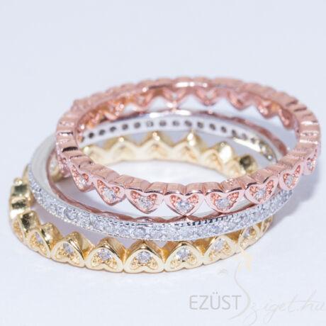 három részes ezüst gyűrű