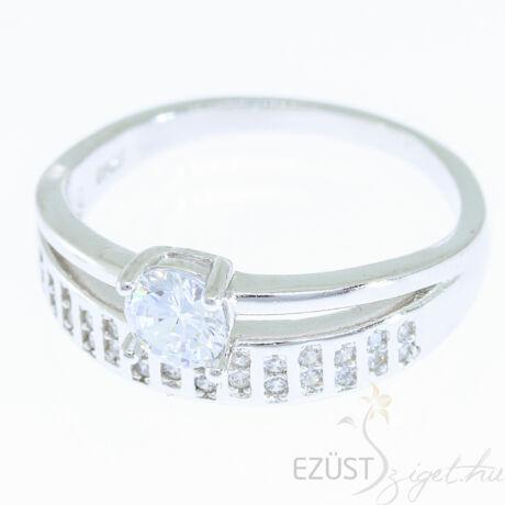 ezüst dupla köves gyűrű