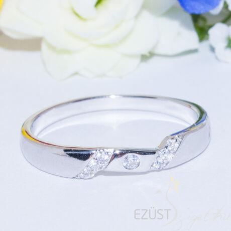 letisztult köves gyűrű