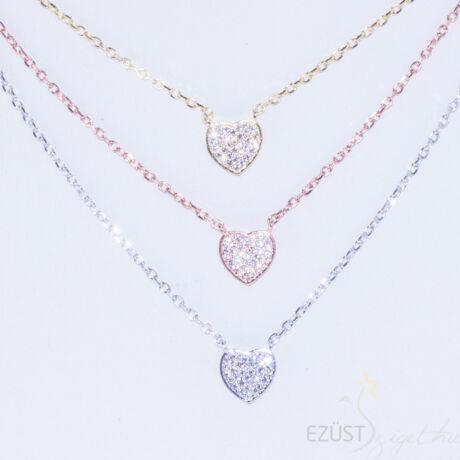 három színű szívek nyaklánc