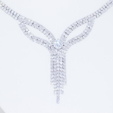 csillogó köves ezüst nyakék