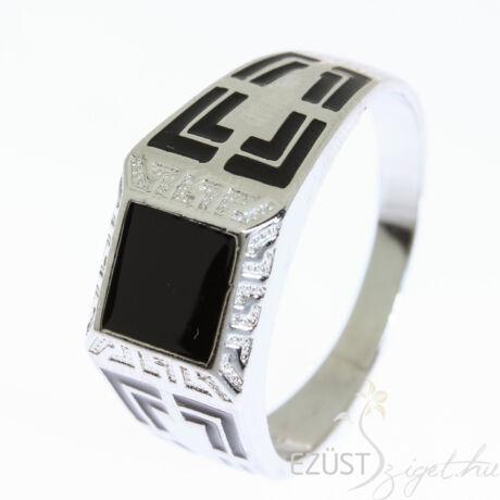 férfi ezüst pecsét gyűrű