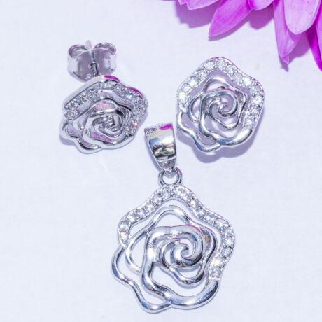 rózsák köves ékszer szett