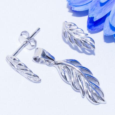 madártoll ezüst ékszer szett