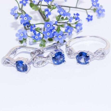 kék ékszer szett
