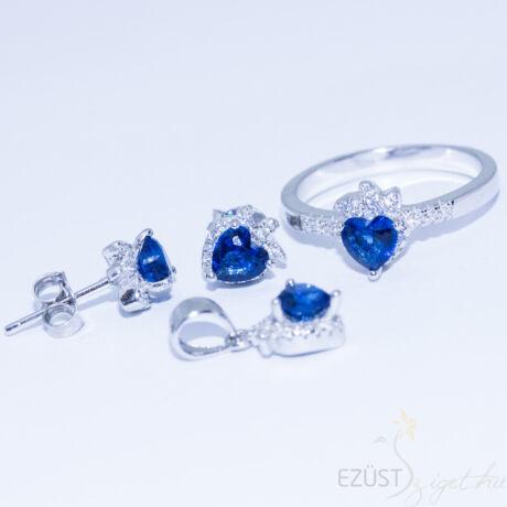 Kék Eper Szív Ékszer Szett