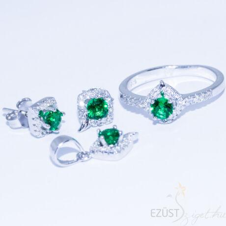 Kis Zöld Köves Ékszer Szett