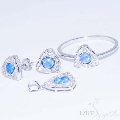 kék opálkő ezüst ékszer szett