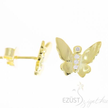 Aranyozott pillangó fülbevaló