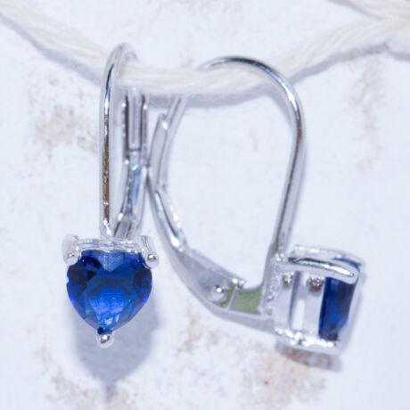 kék szív fülbevaló