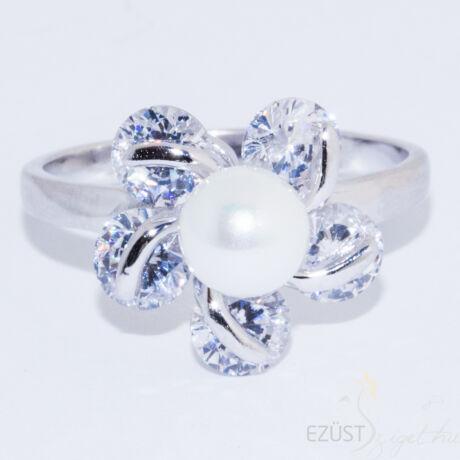 gyöngy virág gyűrű