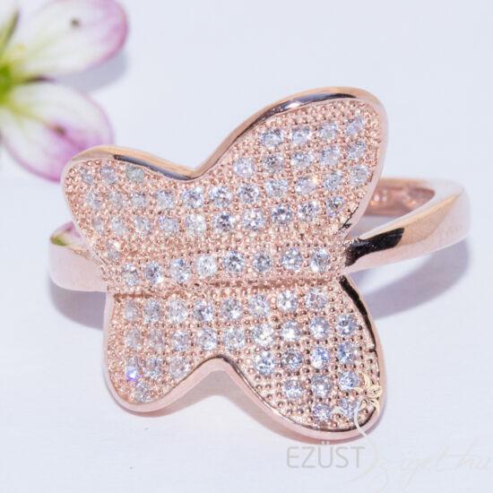 rose gold pillangó gyűrű