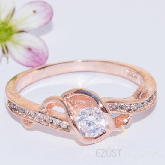 kerek köves gyűrű