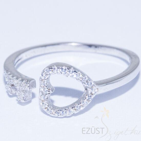 szív kulcs gyűrű