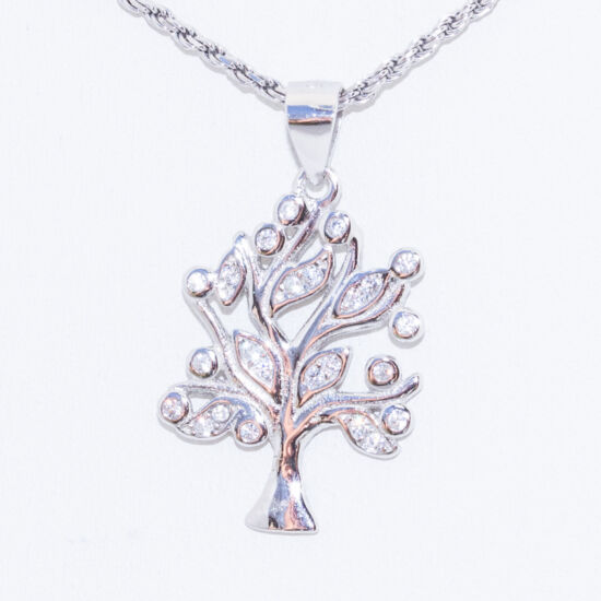 érdekes fa ezüst medál
