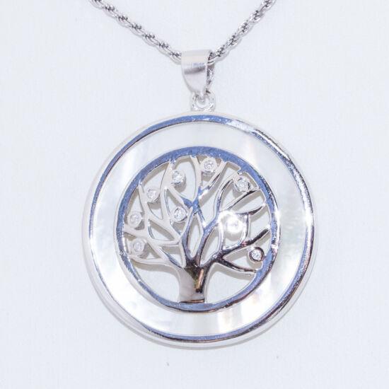 életfa gyöngykagylóhéj ezüst medál