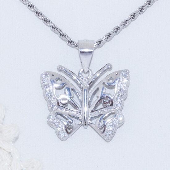 pillangó ezüst medál