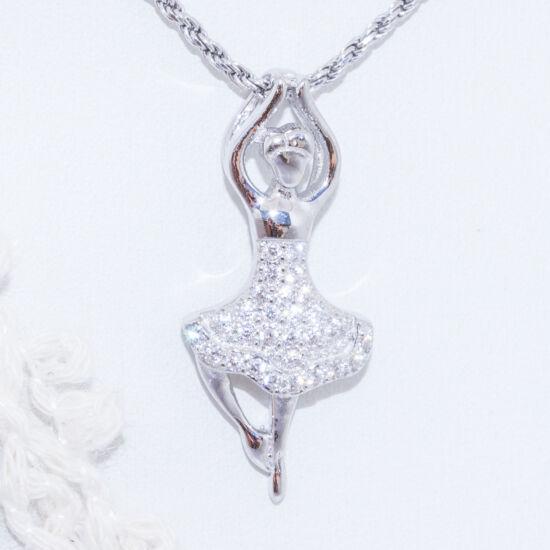 balett táncos ezüst medál