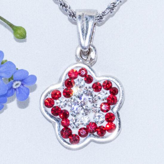 swarovski ezüst medál virág