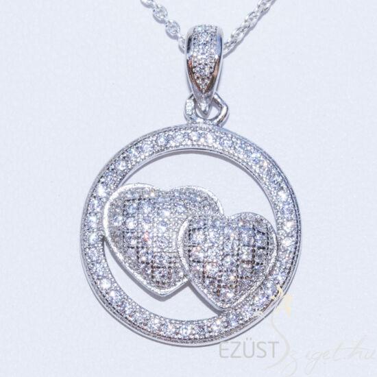 szívek ezüst medál