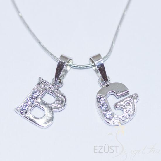 betű medál ezüstből