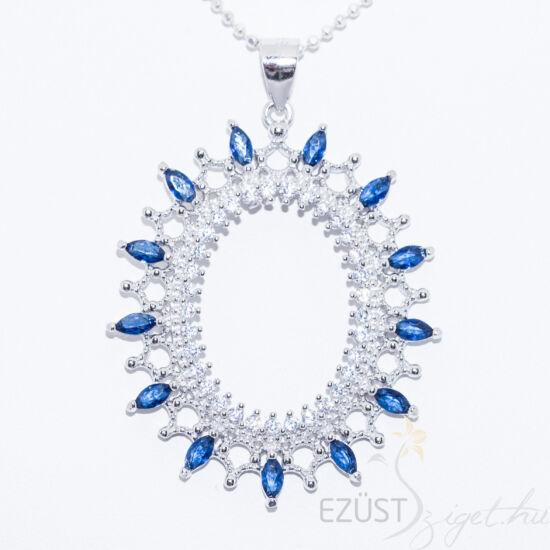 Gyönyörű Kék Köves Ovális Medál