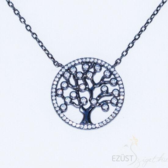 élet fája fekete ezüst nyakék