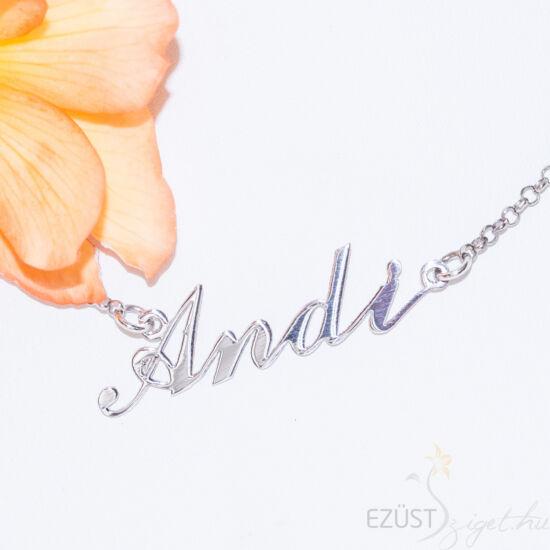 ezüst neves nyaklánc