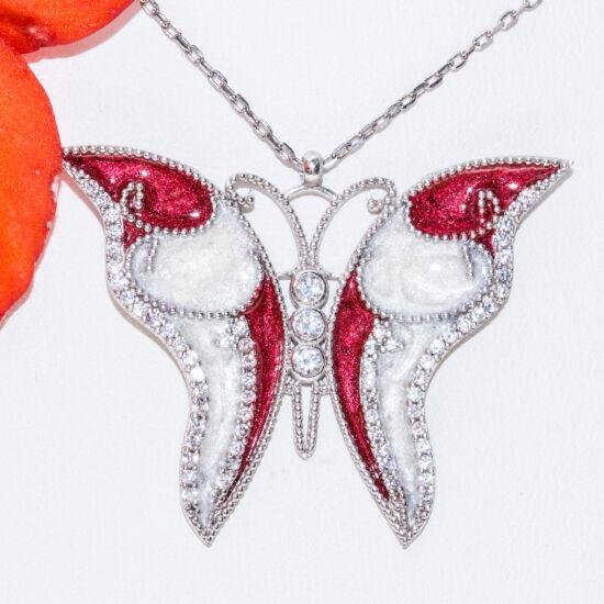 tűzzománc medál pillangó