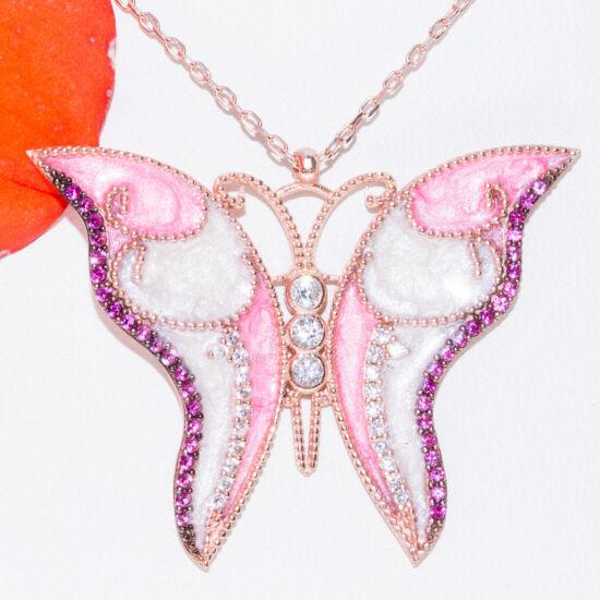 pillangó tűzzománc nyakék