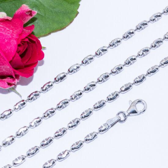 ezüst gyöngyös nyaklánc