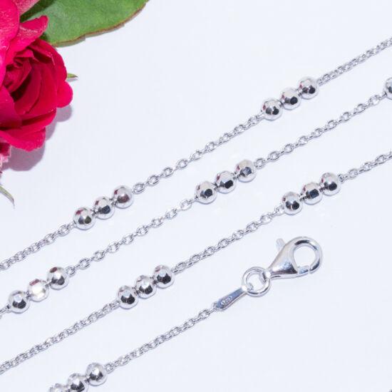 ezüst gyöngyös nyakék