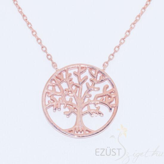 élet fája rose gold nyakék