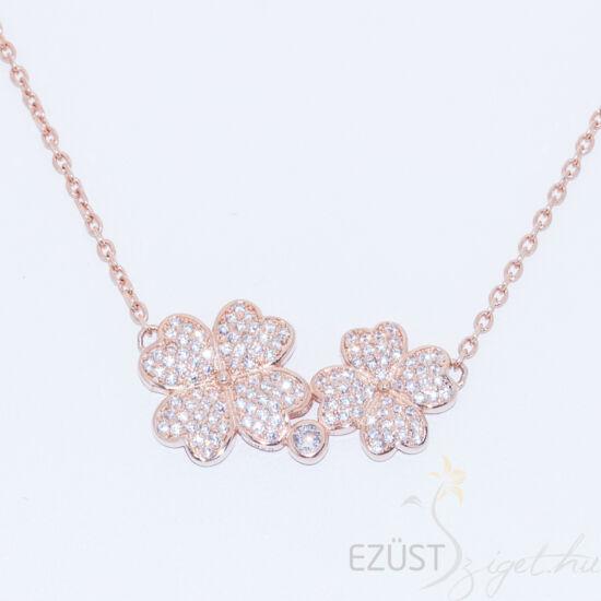 rose gold virágok nyakék