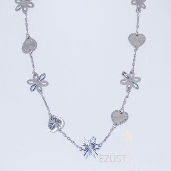 szív virág nyaklánc
