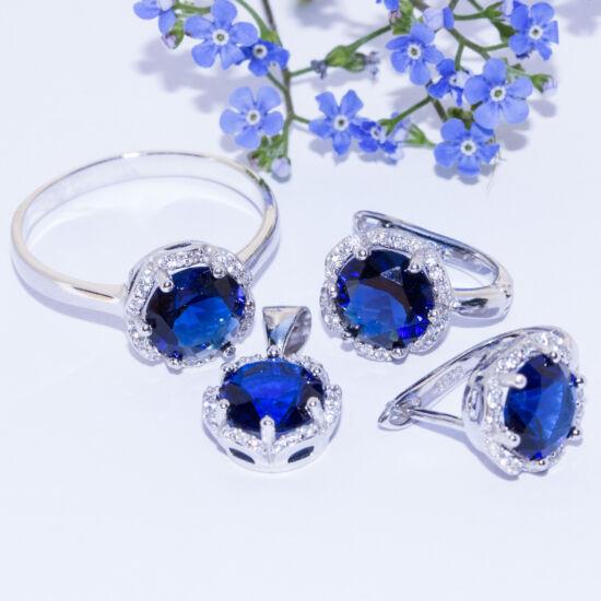 kék köves ékszer szett