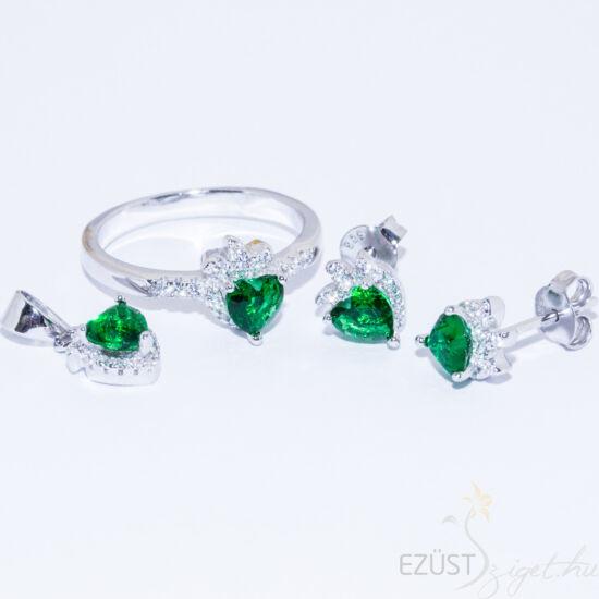 Zöld Eper Szív Ékszer Szett
