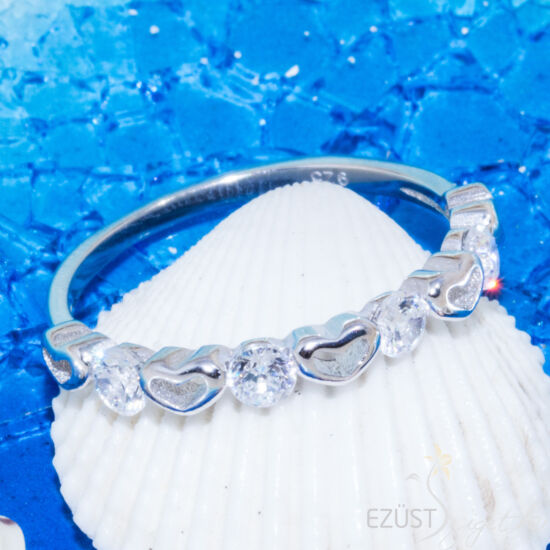 Kis Szívek Kövekkel Gyűrű
