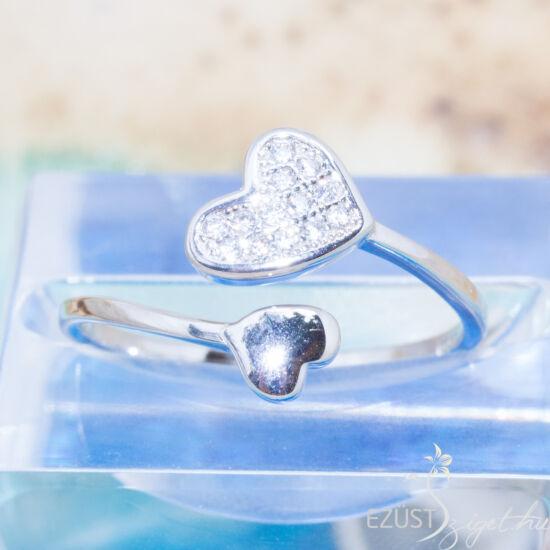 Állítható Méretű Szív Gyűrű
