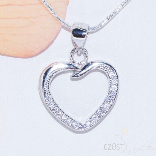 szív ezüst medál