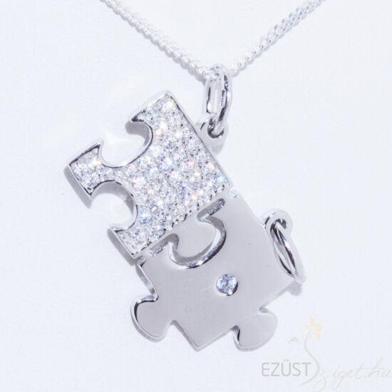szerelem törhető puzzle kirakós medál